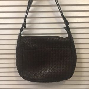 Bottega Veneta Brown Woven Leather Shoulderbag